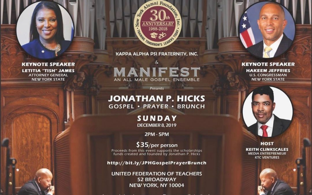 JONATHAN P. HICKS GOSPEL PRAYER BRUNCH 2019